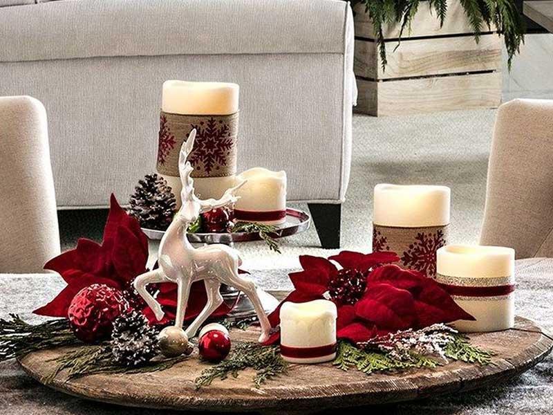 سینی دکور کریسمس
