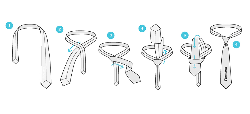 مدل گره کراوات ساده